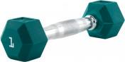 Гантель гексагональная обрезиненная RZR, 1 кг